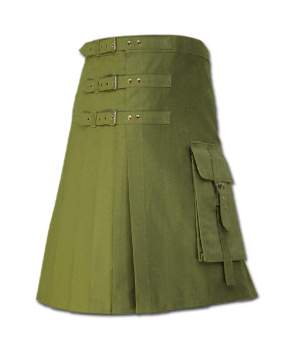 Brutal Grace Kilt for Active Men green