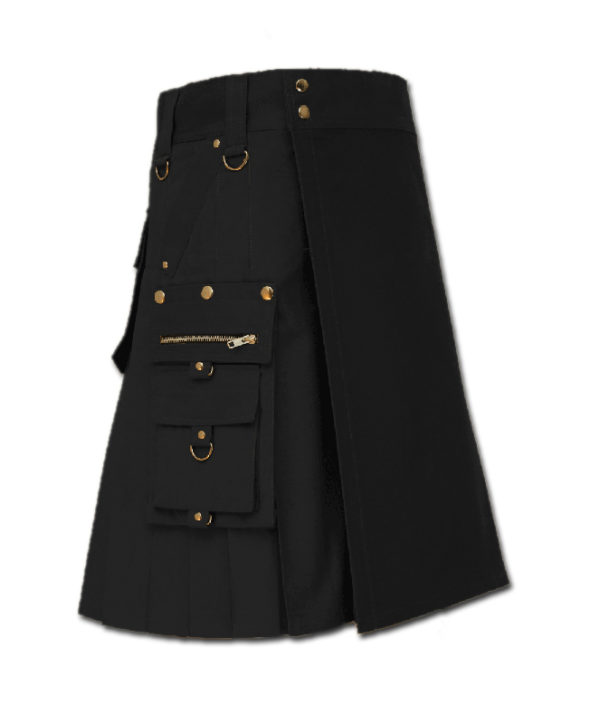 Gothic Kilt for Steampunk black