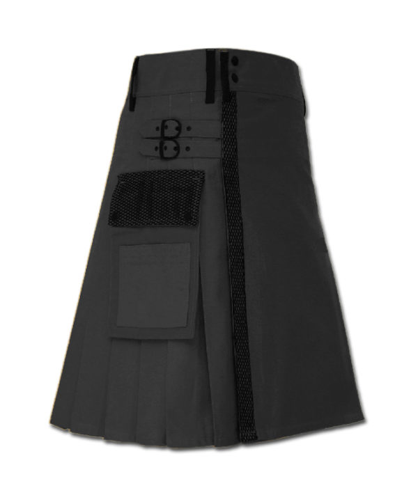 Net Pocket Kilt for Working Men black 1