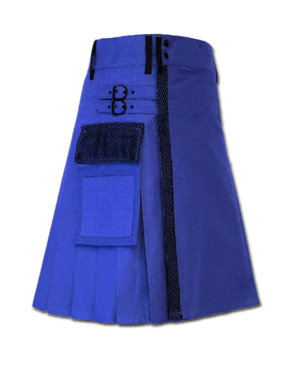 Net Pocket Kilt for Working Men blue 1