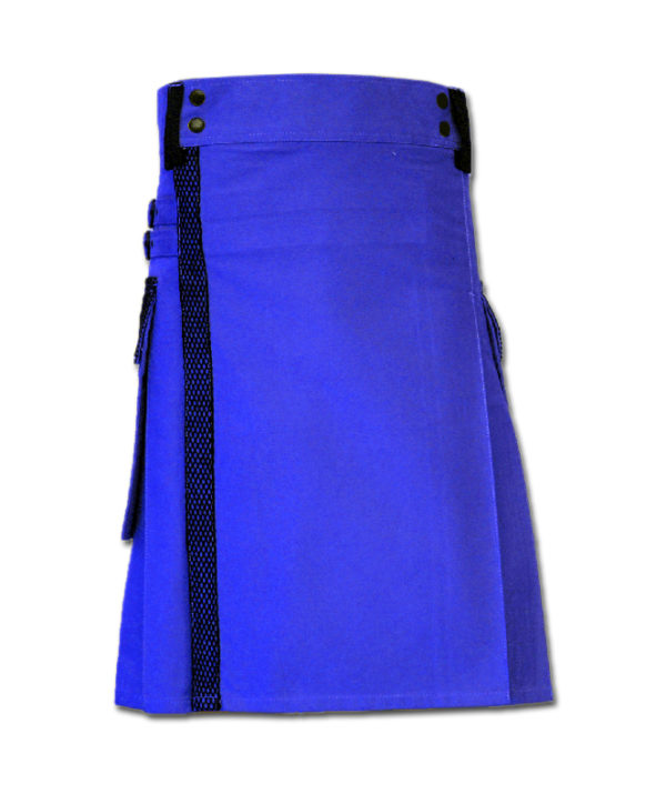 Net Pocket Kilt for Working Men blue