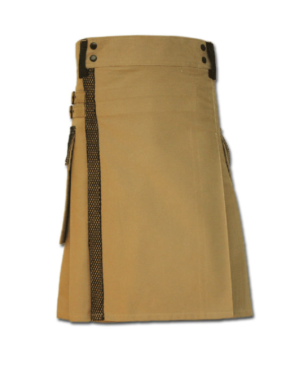 Net Pocket Kilt for Working Men sand 3