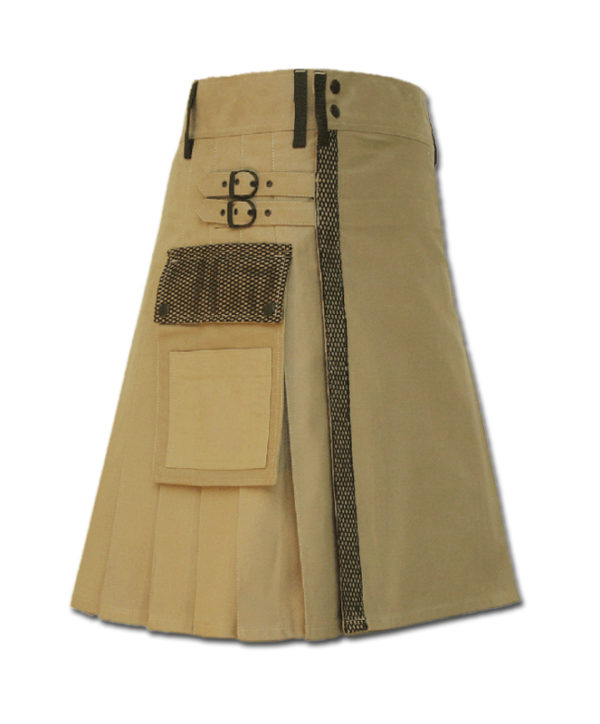 Net Pocket Kilt for Working Men sand