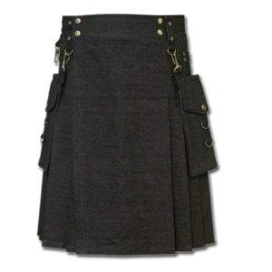 Deluxe Denim Fashionable Kilt