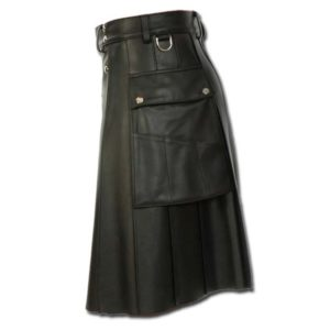 Deluxe Leather Kilt with Stylish Pockets