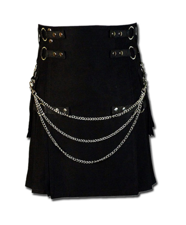 Fashion Kilt for Stylish Men black 1