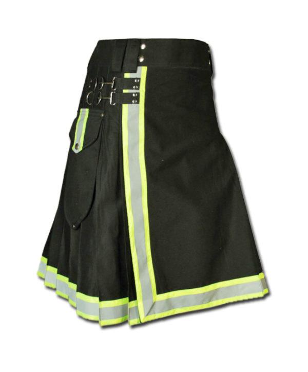 FireFighter High Visibility Kilt black green
