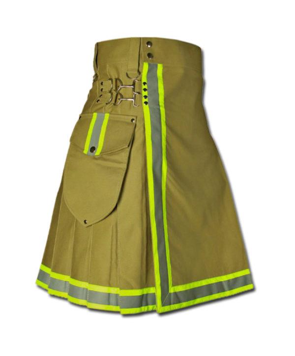 FireFighter High Visibility Kilt green1