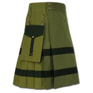 Modern Kilt For Active Men green