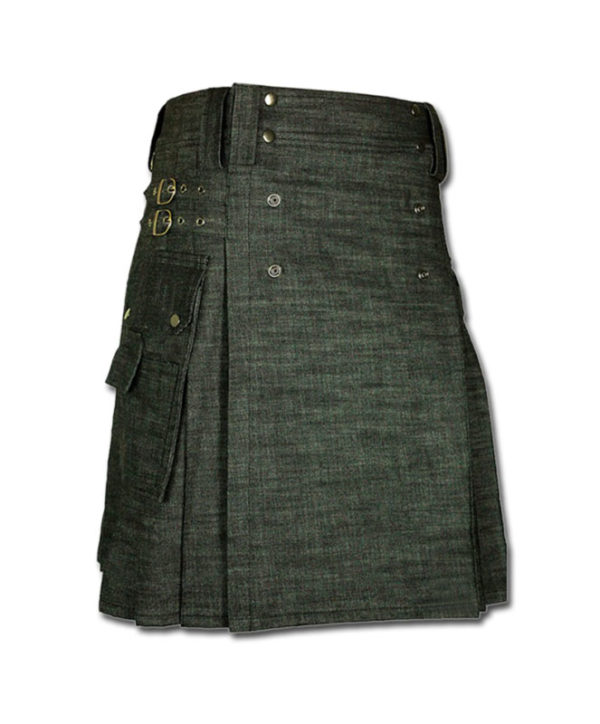 denim kilt for rough tough men