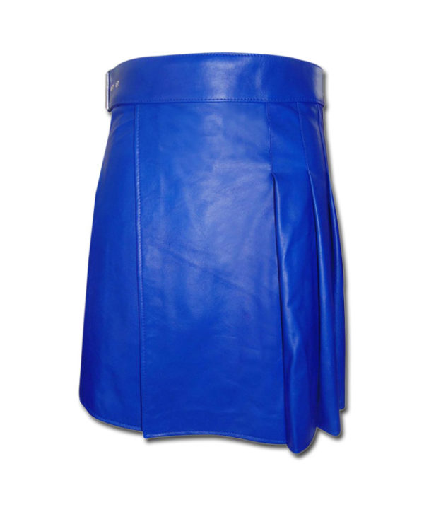 Leather Kilt-blue 1