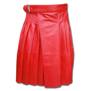 Leather Kilt in RED