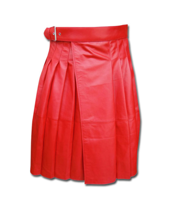 Leather Kilt-red 1