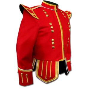 Red Highland Drummer Doublet jacket