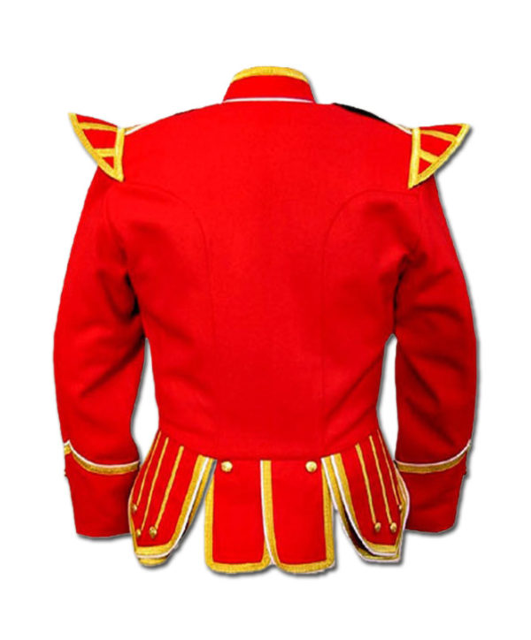 Red Highland Drummer Doublet jacket-2