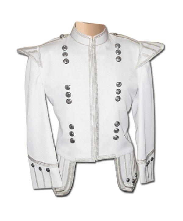 White Drummer Doublet Jacket-1