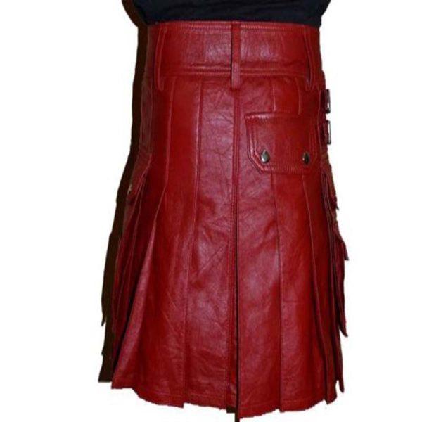 leather-gladiator-scottish-warrior-pleated-kilt-back