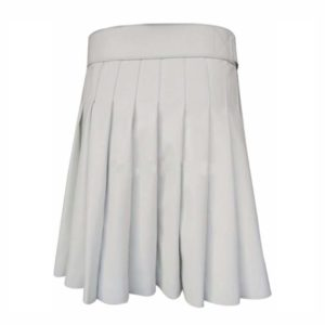 Short Mini White Leather Kilt