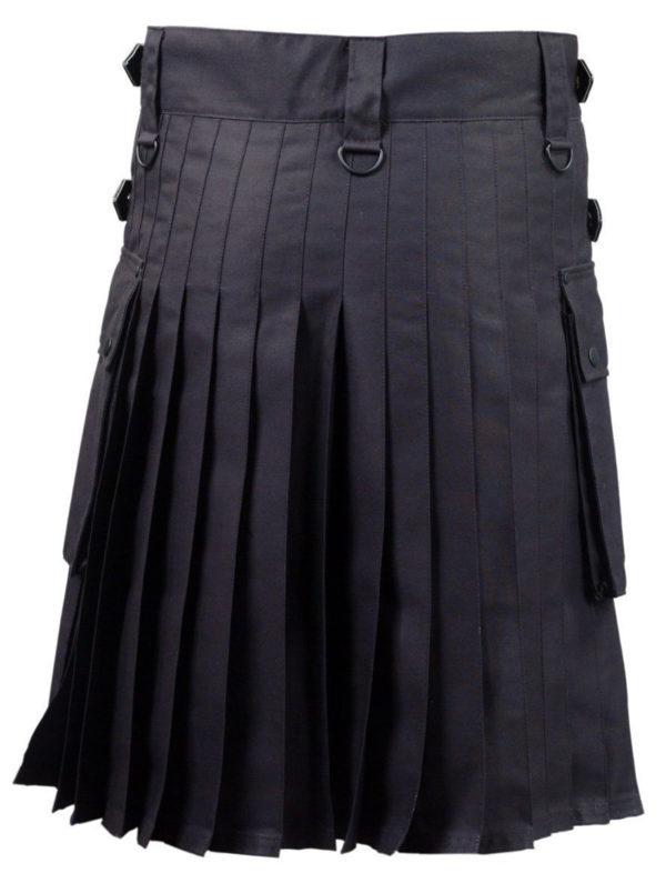 Black-Deluxe-Utility-Fashion-Kilt-Back
