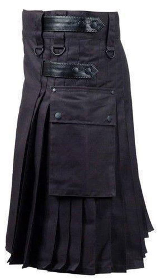 Black-Deluxe-Utility-Fashion-Kilt-left-side