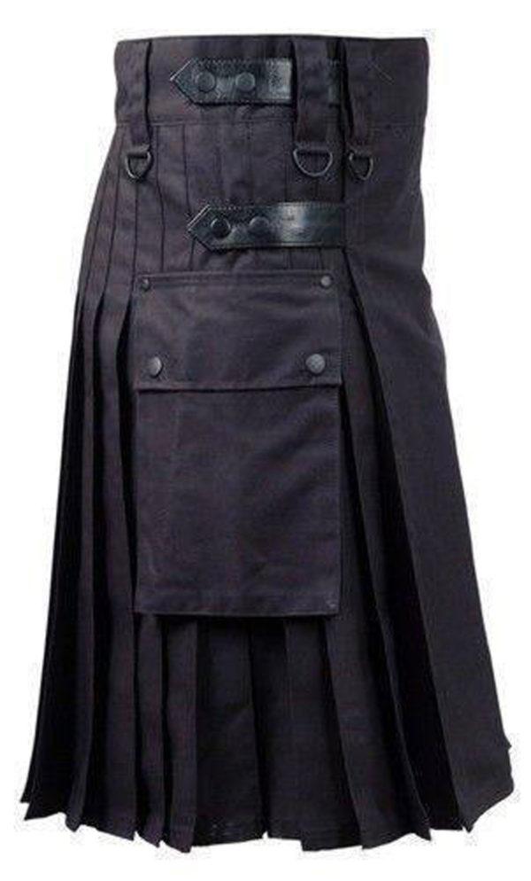 Black-Deluxe-Utility-Fashion-Kilt-side