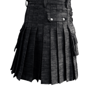 Black-Denim-Kilt-back