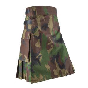Woodland-Camouflage-Utility-Kilt-