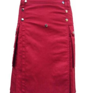 scottish-highland-red-utility-pocket-drilled-kilt