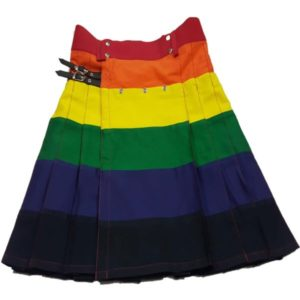 LGB Gay Pride Rainbow kilt for Men (Utility kilts Fashion)