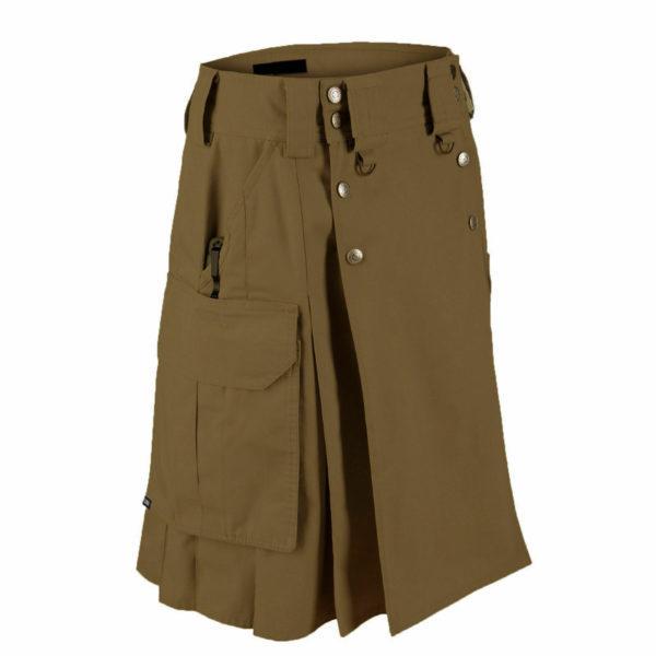 Dark Brown Tactical Men's Combat Cargo Uniform Battle Utility Kilt1