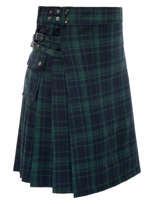 Mens tranditional Highland Scotish Kilt tartan utility kilt