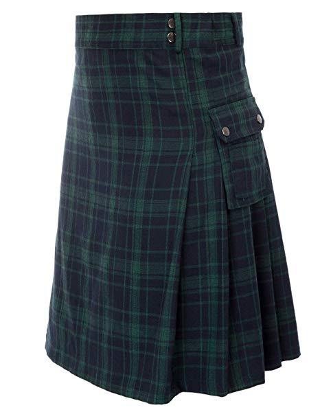 Mens tranditional Highland Scotish Kilt tartan utility kilt2