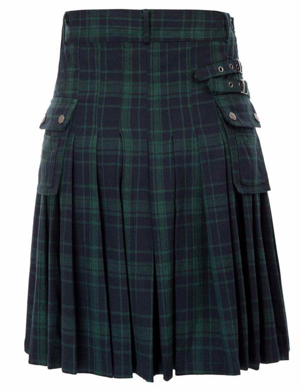 Mens tranditional Highland Scotish Kilt tartan utility kilt3