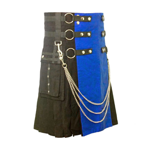 Scottish Black and Blue Gothic Kilt