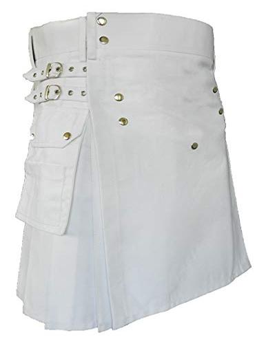 Men/'s Black handmade denim Fashion Utility Kilt Deluxe Kilt