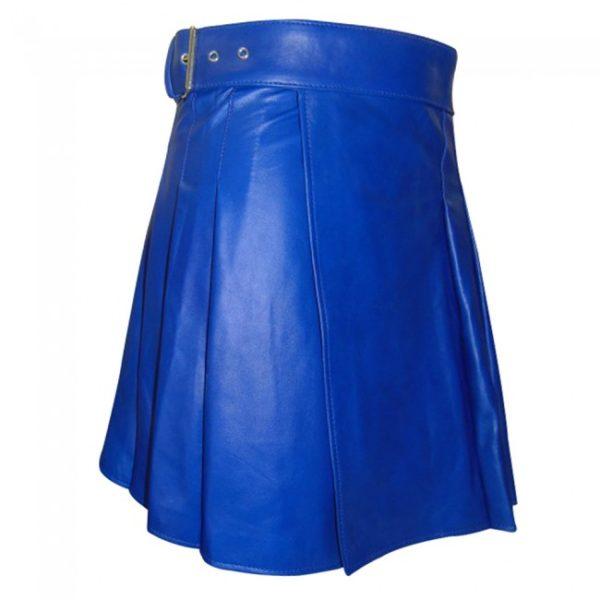 Blue Leather kilt
