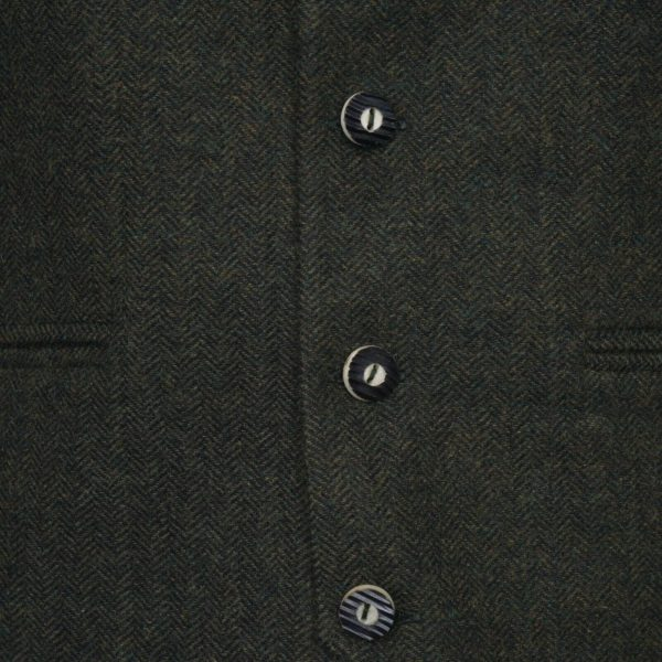 Olive Green Tweed kilt jacket With 5 Button VestOlive Green Tweed kilt jacket With 5 Button Vest