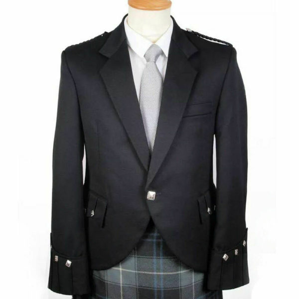 100% WOOL Argyle kilt Jacket & Waistcoat Vest, Scottish Argyle Jacket2