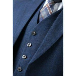 Men's Blue Tweed Scottish Kilt Jacket with Waistcoat