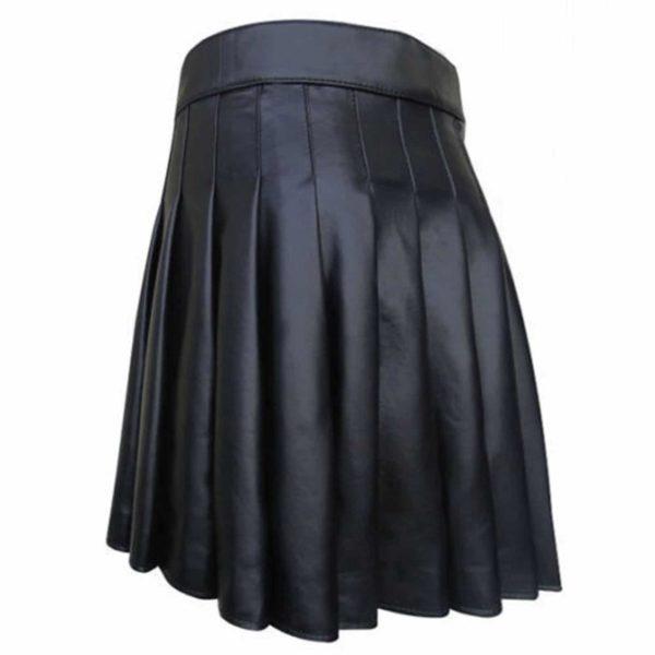 Side Belted Leather Kilt2
