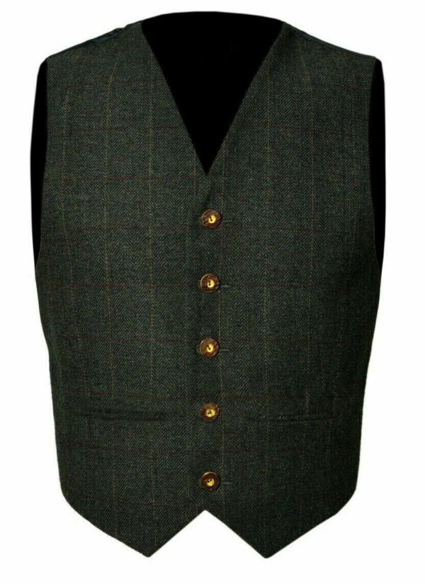 Trendy-Scottish-Tweed-Argyle-Kilt-Jacket-With-Waistcoat-Vest-1