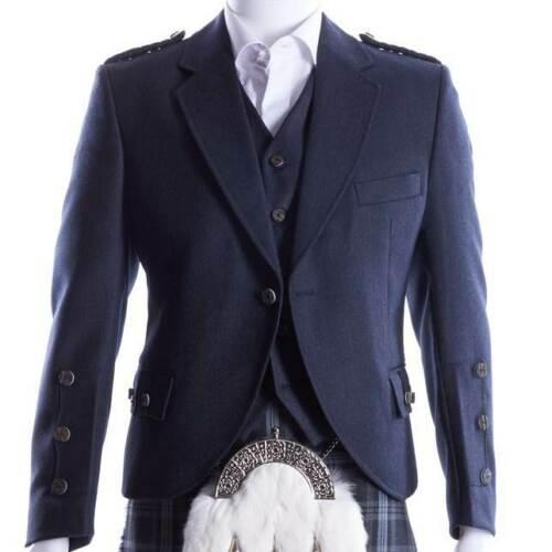 Crail Kilt Jacket and Waistcoat in Midnight Blue