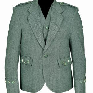 Lovat-Green-Tweed-Argyle-Kilt-Jacket-With-5-Button-Vest