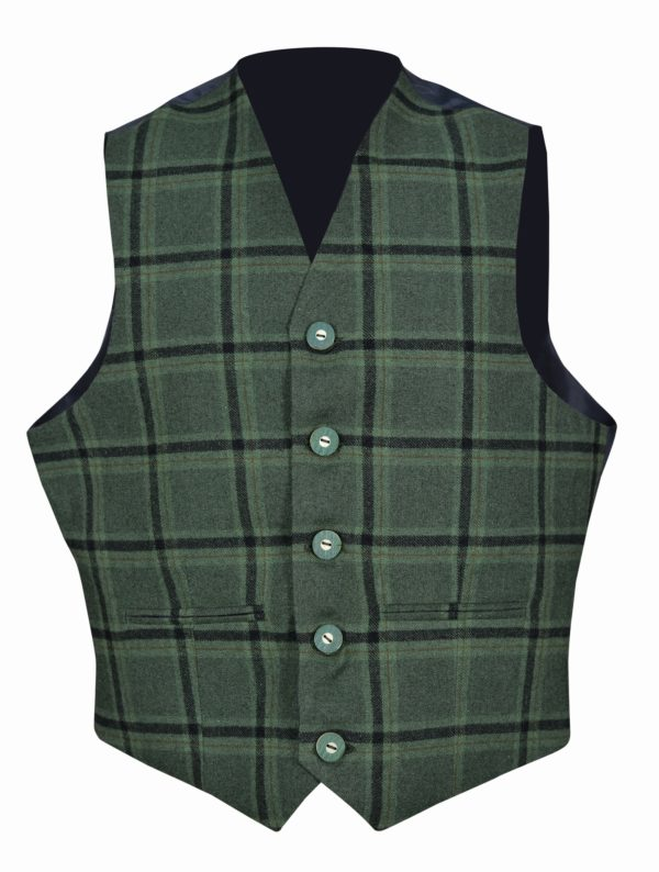 Traditional-Style-Lovat-Green-5-Button-Vest.2