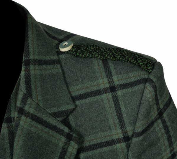 Traditional-Style-Lovat-Green-Tweed-Argyle-Kilt-Jacket-With-5-Button-Vest…..5
