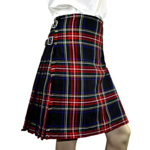 Black Stewart Heavyweight Poly Viscose Formal 8 Yard Kilt