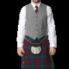 Light Grey Tweed Argyle 5 Button Vest