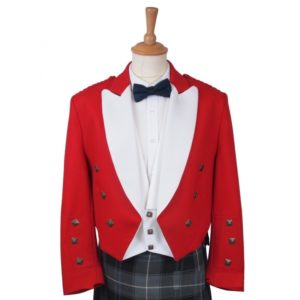 RED Prince Charlie Jacket & white Waistcoat