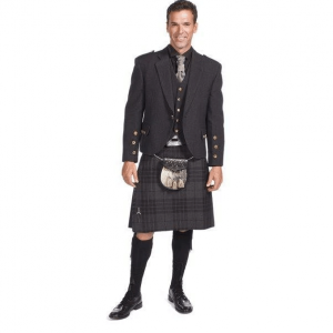 Charcoal Tweed Crail Jacket kilt Outfits