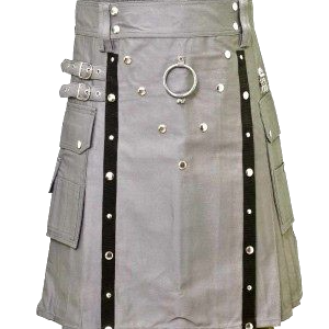 Buy Stylish Gothic Grey Belted Fashion Kilt For Sale